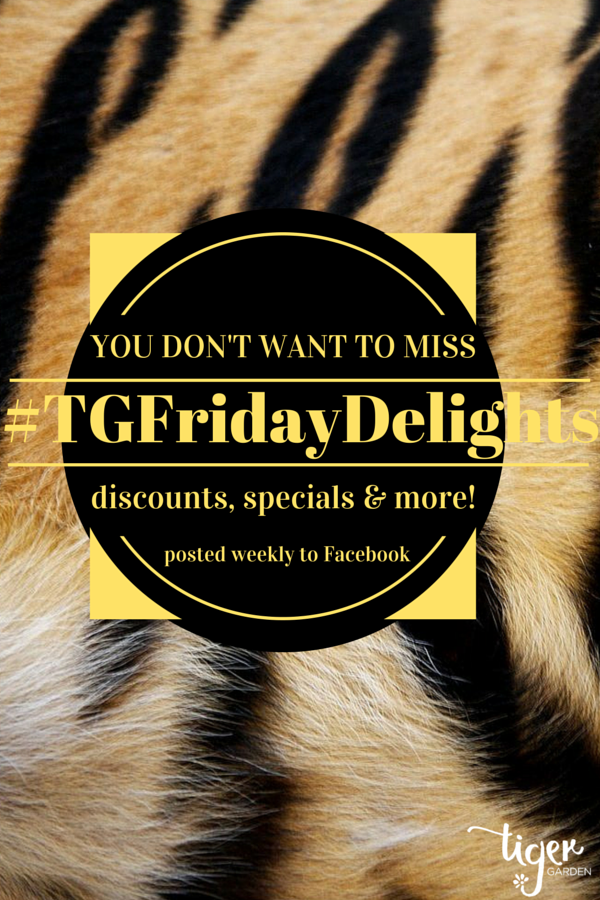 You don't want to miss discounts, specials and more! Posted weekly to Facebook, #TGFridayDelights